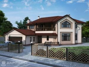 Готовые проекты частных загородных домов купить - Кристалл