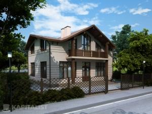 Готовые проекты частных загородных домов купить - Сокол