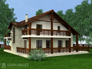 Готовые проекты частных загородных домов купить - Саймон
